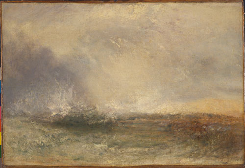 JMW Turner. Stormy Sea Breaking on a Shore, 1840-45. Yale Center for British Art, Paul Mellon Collection.