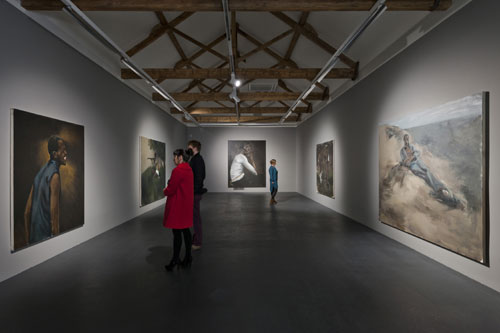 Lynette Yiadom-Boakyke. Installation view at the Turner Prize gallery at Ebrington, Derry-Londonderry.