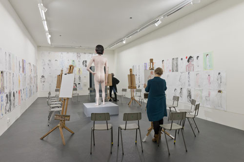 David Shrigley's Life Model exhibit for the 2013 Turner Prize at Ebrington, Derry-Londonderry.