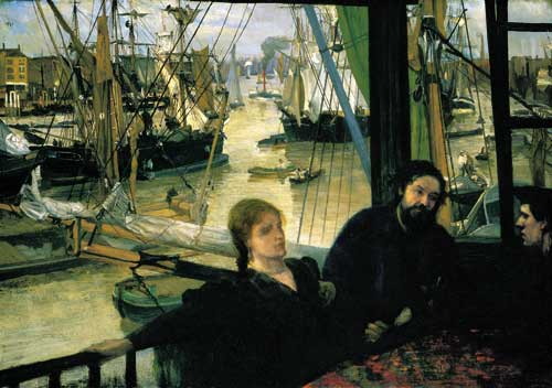 James Abbott McNeill Whistler, Wapping, 1860-64. Oil on canvas 71.1 x 