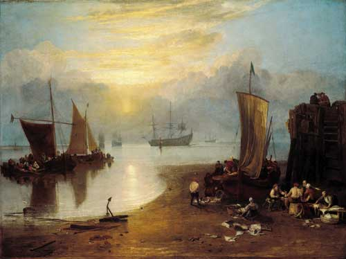 Joseph Mallord William Turner, <i>Sun Rising Through Vapour: Fishermen 