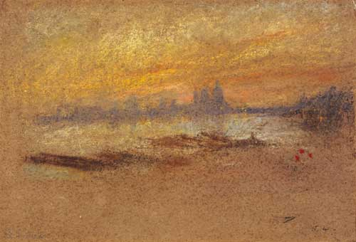 James Abbott McNeill Whistler, <i>Red and Gold: Salute Sunset</i>, 1880. 