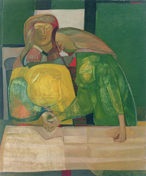 Robert Colquhoun. Grieving Women, 1944. Oil on canvas, 91 x 76 cm. Private collection.