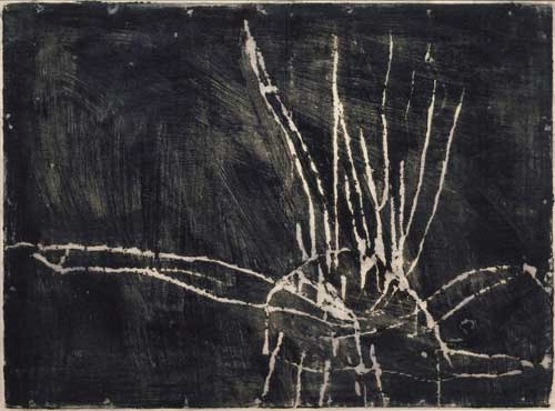 Cy Twombly. Untitled, 1953. Monotype in paint on paper, 48 x 64 cm. © Cy Twombly Foundation / Courtesy Cy Twombly Foundation.