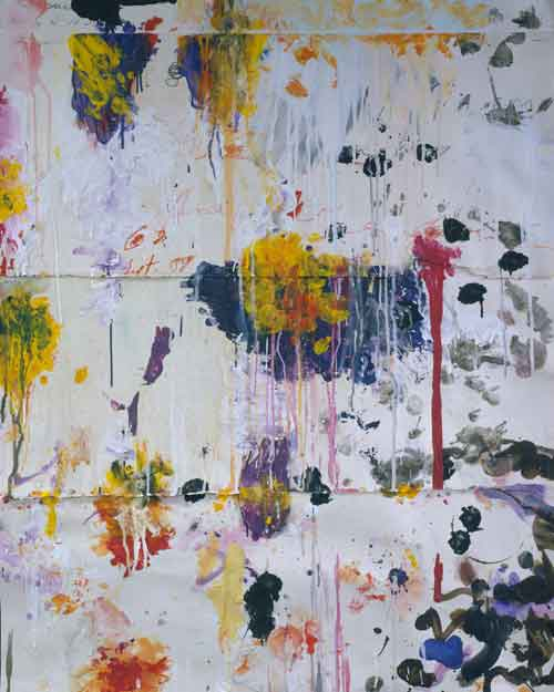 Cy Twombly. Untitled, 2001. Acrylic paint, wax crayon, pencil, collage on paper, 124 x 99 cm. © Cy Twombly Foundation / Courtesy Cy Twombly Foundation.