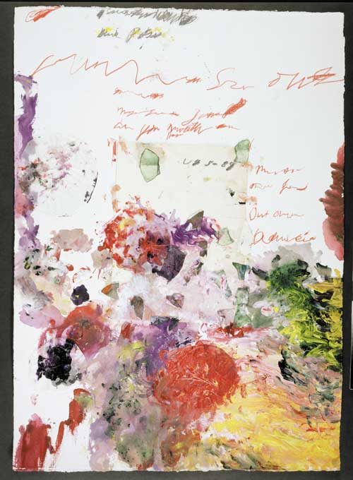Cy Twombly, Untitled (Gaeta collage 3/3), 1989. Acrylic, wax crayon and collage, 104 x 74.5 cm (41 x 29 1/4 inches.