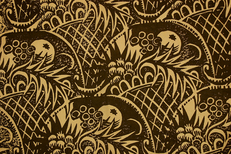 Phyllis Barron and Dorothy Larcher, Large Basket, 1920s-30s. Block print on cotton. © Crafts Study Centre/Crafts Study Centre 2004.