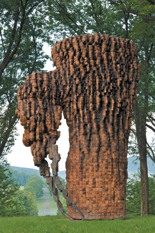 Ursula von Rydingsvard. Luba, 2010. Cedar, graphite and cast bronze, 212 x 139 x 88 inches (538.5 x 353.1 x 223.5 cm)