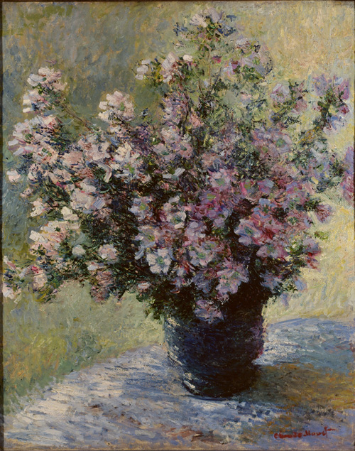 Claude Monet. Vase of Flowers, 1881-2. Oil on canvas, 121.7 x 102.7 cm.