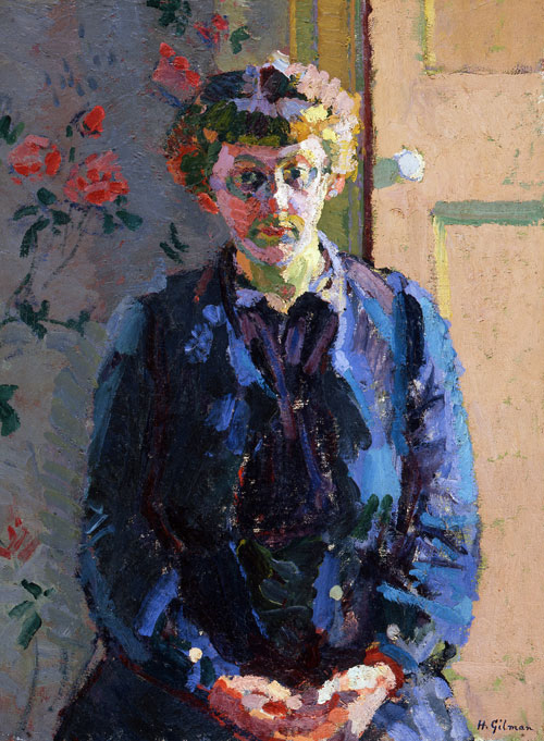 Harold Gilman. Portrait of Sylvia Gosse, 1912-3. Southampton City Art Gallery, Hampshire, UK.