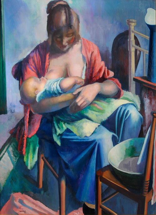 Bernard Meninsky. Mother and Child, 1919. Copyright the Estate of Bernard Meninsky.