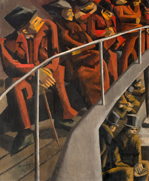David Bomberg. Ghetto Theatre, 1920. Oil on canvas. Ben Uri, The London Jewish Museum of Art.