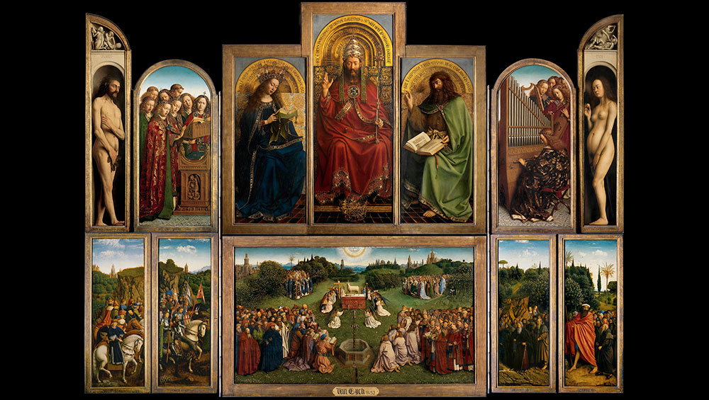 Celebrating the first stages of restoration of the Ghent Altarpiece, as well as the incredible academic knowledge, innovation and artistic precision of the first learned painter in northern Europe, this once-in-a-lifetime exhibition brings together half of Jan van Eyck's known works