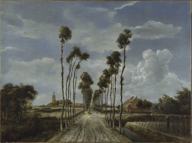 Meindert Hobbema. The Avenue at Middelharnis, 1689. Oil paint on canvas, 103.5 x 141 cm. © The National Gallery, London.