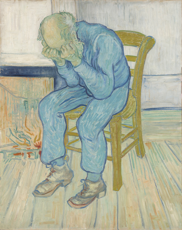 Vincent van Gogh, Sorrowing old man (At Eternity's Gate), 1890. Oil paint on canvas, 81 x 65 cm. Collection Kröller-Müller Museum, Otterlo.