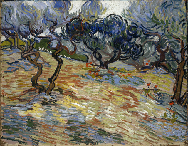 Vincent van Gogh, Olive Trees, 1889. Oil paint on canvas, 51 x 65.2 cm. National Galleries of Scotland.