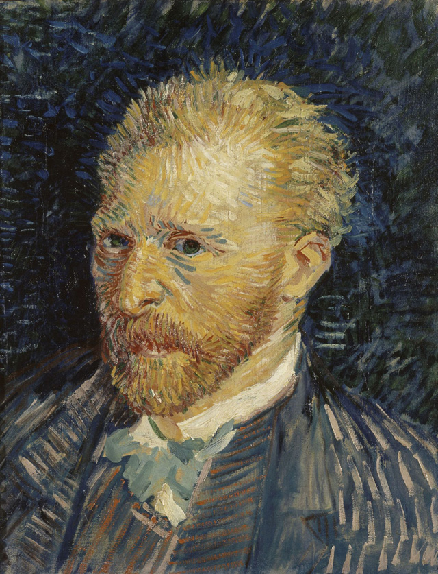 Vincent van Gogh, Self-portrait, 1887. Oil paint on canvas, 47 x 35 cm. Paris, Musée d'Orsay © RMN.