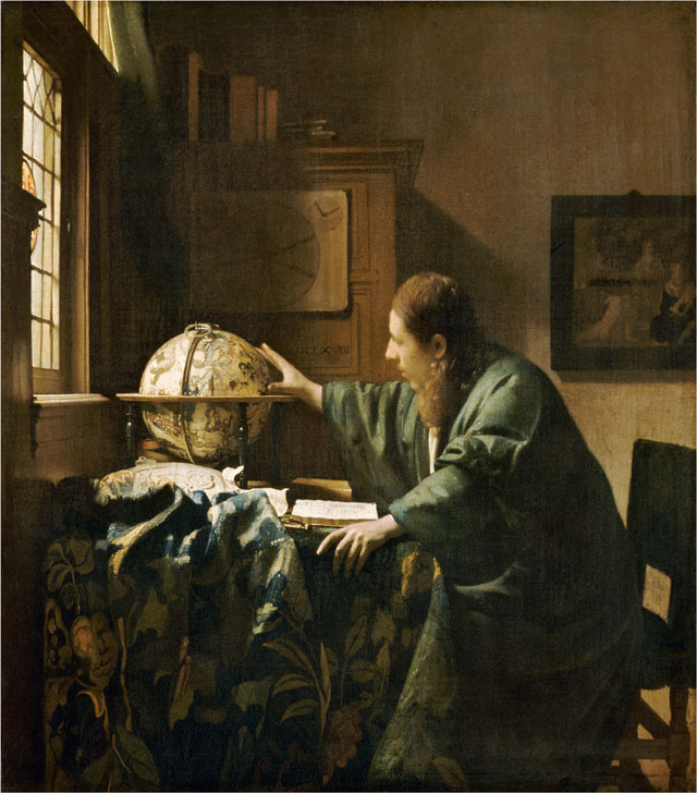 Johannes Vermeer. The Astronomer, 1668. Oil on canvas, 50 x 45 cm (19 11/16 x 17 11/16 in). Musée du Louvre, Paris, Département des Peintures, Acquired by