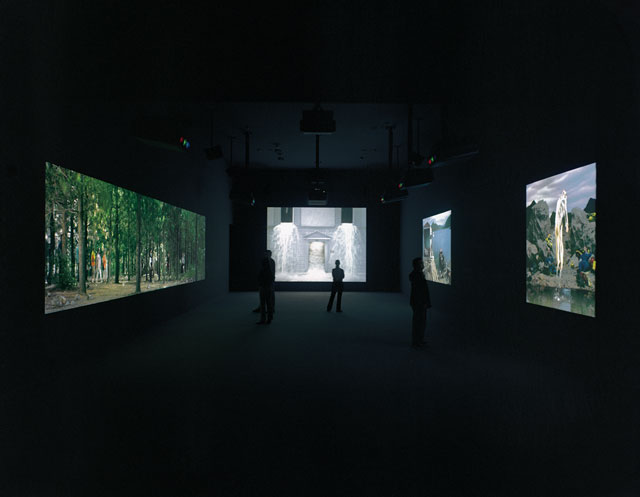 Bill Viola. Going Forth By Day, 2002. Installation view. Photograph: Mathias Schormann.