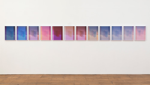 Sara VanDerBeek. Electric Prisms, 2015. Set of 12 individual works, each made up of 2 digital C-prints. Edition 1 of 1 + 1 AP