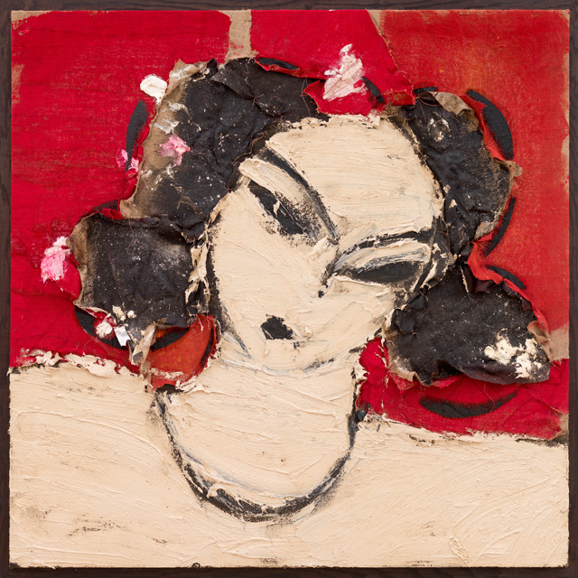Manolo Valdés. Odalisca, 2016. Oil on burlap, 65 x 65 in. Copyright Manolo Valdés, courtesy Marlborough Fine Art, London.