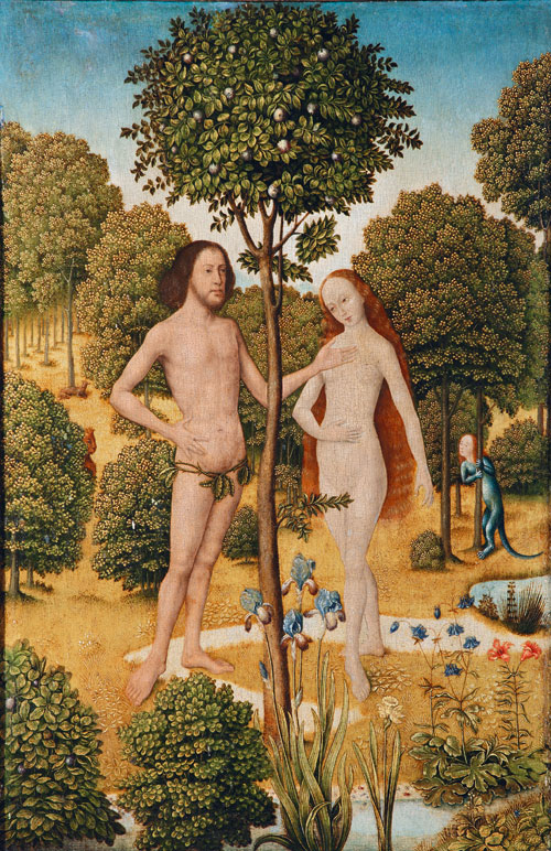 Aert van den Bossche. Adam and Eve, c1490. © Switzerland, private collection.