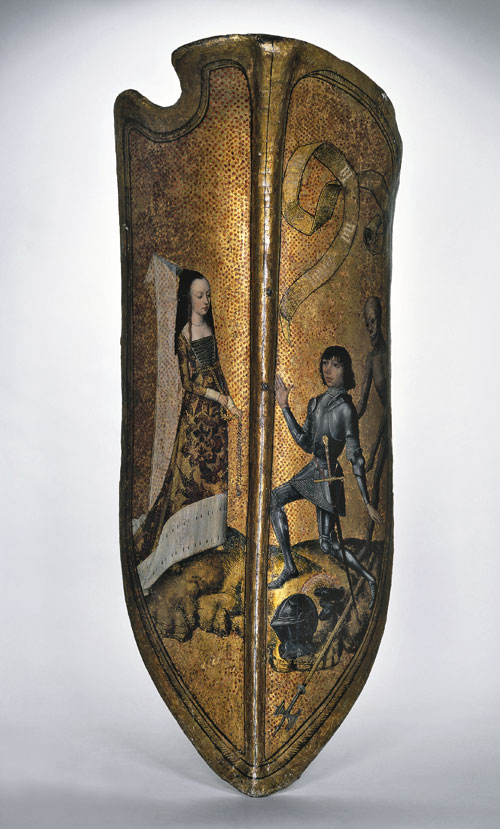 Master of the Princely Portraits. Parade shield. © The Trustees of the British Museum.