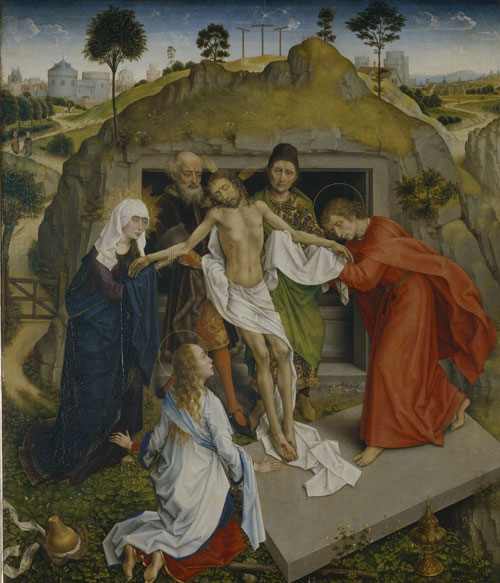 Workshop of Rogier van der Weyden. Lamentation in front of the open tomb, c 1460-63. © Istituti museali della Soprintendenza Speciale per il Polo Museale Fiorentino.