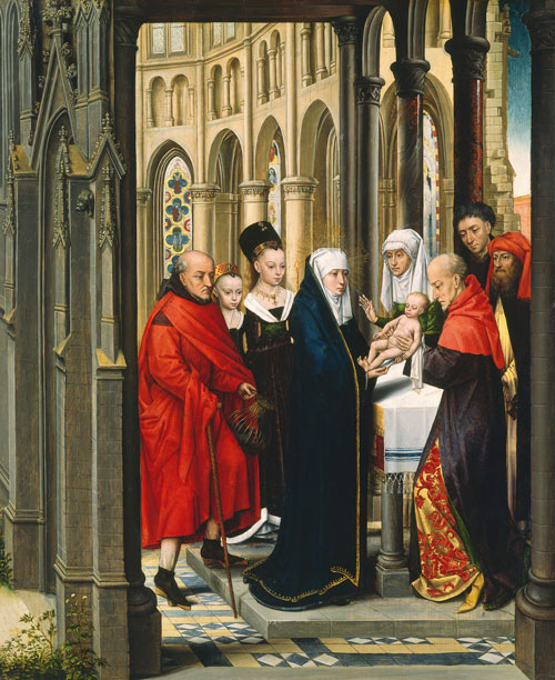 Master of the Prado Adoration. The Presentation in the Temple, c 1470-80. © National Gallery of Art, Washington, Samuel H. Kress Collection.