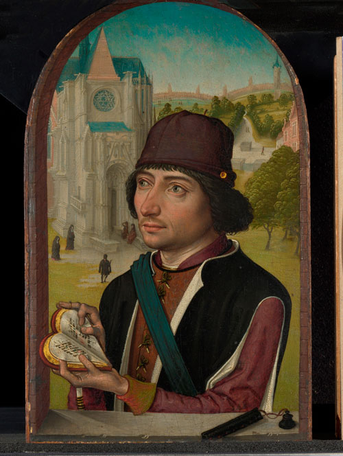 Master of the view on the St Gudula. Portrait of a young man, probably early 1480s. © National Gallery, London.