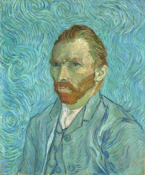 Vincent Van Gogh. Self portrait, Saint-Rémy-de-Provence, September 1889. Oil on canvas, 65 x 54.2 cm. Paris, musée d'Orsay, don de Paul et Marguerite Gachet. © Musée d'Orsay, dist. RMN-Grand Palais/Patrice Schmidt.