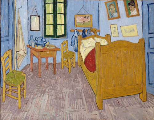 Vincent Van Gogh. Bedroom in Arles, Saint-Rémy-de-Provence, September 1889. Oil on canvas, 57.3 x 73.5 cm. Paris, Musée d'Orsay. © Musée d'Orsay, dist. RMN-Grand Palais/Patrice Schmidt.