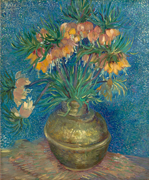 Vincent Van Gogh. Imperial Crown fritillaries in a copper vase, Paris, April/May 1887. Oil on canvas, 73.5 x 60.5 cm