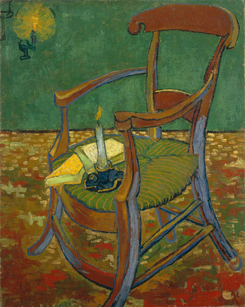 Vincent van Gogh. <em>Paul Gauguin's Armchair</em>, December 1888. Oil on canvas, 90.5 x 72.5 cm. Van Gogh Museum, Amsterdam.
