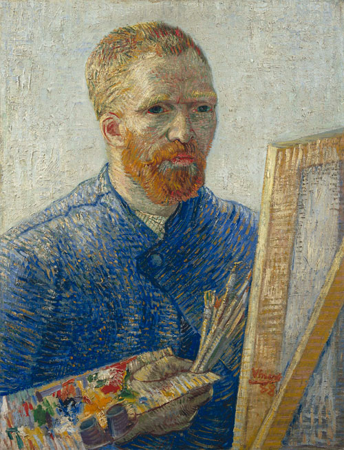 Vincent van Gogh. <em>Self-portrait as an Artist,</em> January 1888. Oil on canvas, 65.2 x 50.2 cm. Van Gogh Museum, Amsterdam (Vincent van Gogh Foundation).