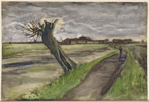 Vincent van Gogh. <em>Pollard Willow,</em> July 1882. Watercolour, 36 x 56.5 cm. Private Collection. Photo Copyright Christie's Images Limited (2007).