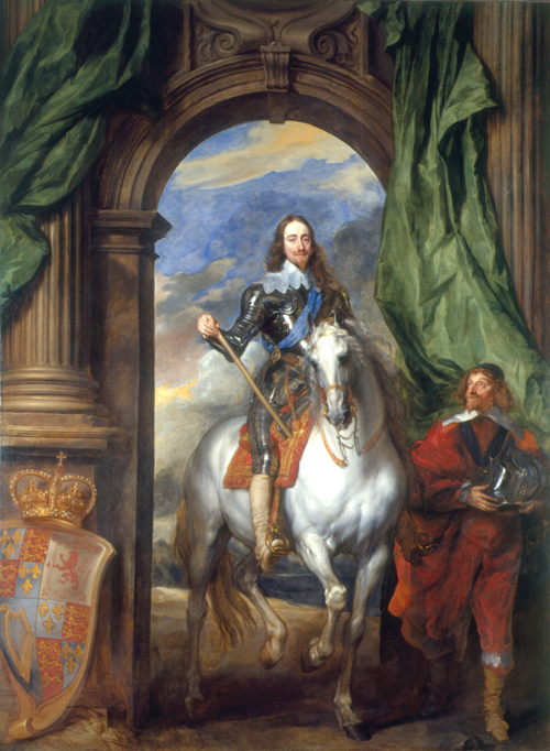 Anthony Van Dyck. <em>Charles I on Horseback with M de St Antoine</em>, 1633. The Royal Collection, Her Majesty Queen Elizabeth II © 2008, Her Majesty Queen Elizabeth II