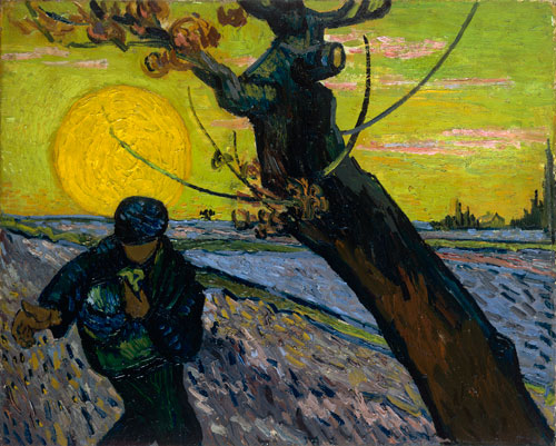 Vincent van Gogh. The Sower, 1888. Oil on canvas, 32 x 40 cm. Van Gogh Museum, Amsterdam. Photograph: Van Gogh Museum Amsterdam (Vincent van Gogh Foundation)