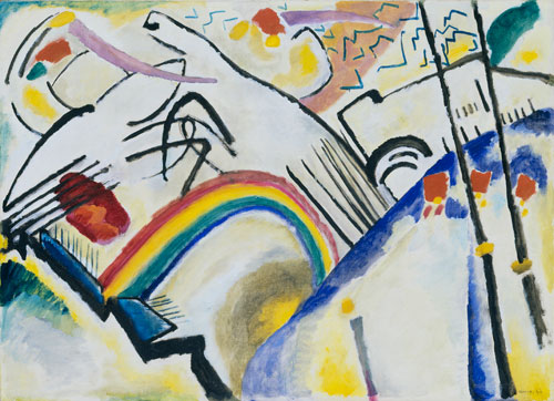 Wassily Kandinsky. Cossacks, 1910–11. Oil on canvas, 94.6 x 130.2 cm. Tate, London. Photography © Tate, London 2011.