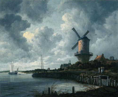 Jacob van Ruisdael. <em>Windmill at Wijk bij Duurstede</em>, c. 1670. Oil on canvas, 83 x 101 cm. Rijksmuseum, Amsterdam (on loan from the City of Amsterdam). Photo © Rijksmuseum, Amsterdam.