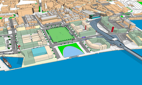 Dundee Waterfront. Masterplan view.