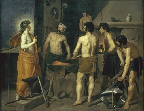 Diego Velázquez. <em>Apollo at the Forge of Vulcan</em>, 1630. Museo Nacional del Prado, Madrid inv. 1171 © Museo Nacional del Prado, Madrid.