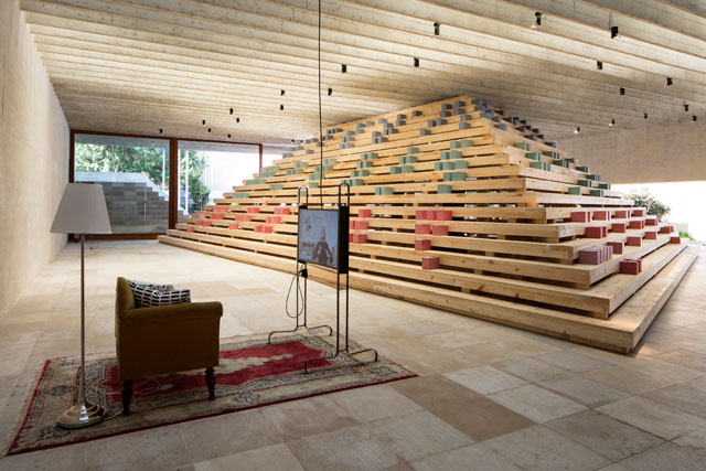 Nordic Pavilion, In Therapy: a look at buildings as expressions of Abraham Maslow's 'hierarchy of needs', set within Sverre Fehn's sublime 1959 monument to modernism.