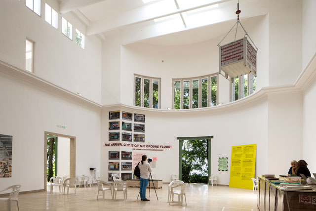 Germany Pavilion. Arrival Country. Curated by the Deutsches Architekturmuseum (DAM), Making Heimat explores the ways in which housing, education and public space could make a more positive contribution to welcoming refugees.