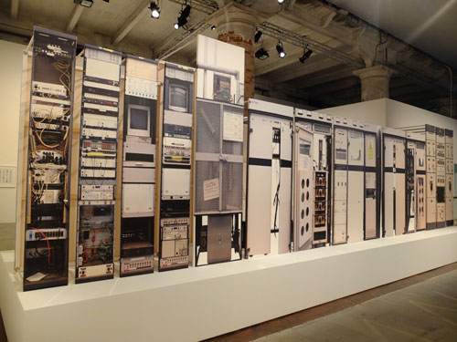 Simon Denny. Analogue Broadcasting Hardware Compression, 2013. Photograph: Dorothy Feaver.