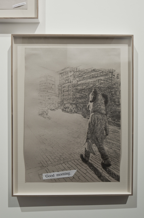 Olga Chernysheva. Untitled (Captured), 2015. Charcoal on paper. 42 × 60 cm. 56th International Art Exhibition - la Biennale di Venezia, All the World's Futures. Photograph: Alessandra Chemollo. Courtesy by la Biennale di Venezia