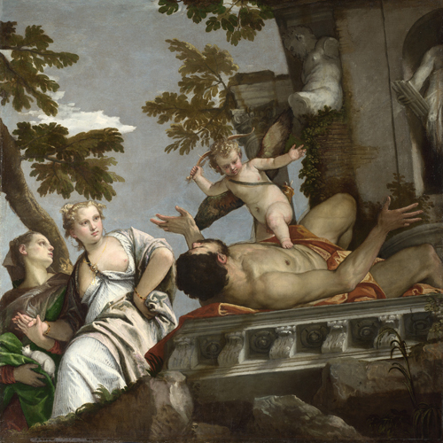 Paolo Veronese (1528-1588). Allegories of Love - Scorn, c1570-75. Oil on canvas, 186.6 x 188.5 cm. © The National Gallery, London.