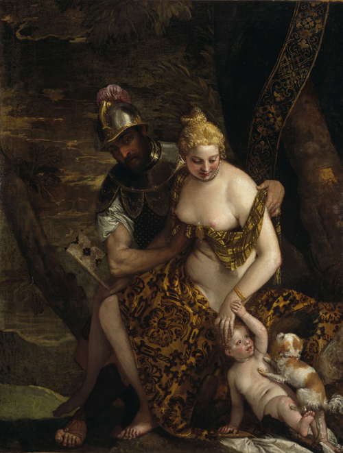 Paolo Veronese (1528-1588). Venus, Mars and Cupid, c1580. Oil on canvas, 163 x 125 cm. © National Galleries of Scotland.