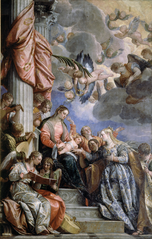 Paolo Veronese (1528-1588). The Mystic Marriage of Saint Catherine, c1565-70. Oil on canvas, 337 x 241 cm. Gallerie dell'Accademia, Venice (1324). © Courtesy of the Ministero dei Beni e delle attività culturali e del turismo.