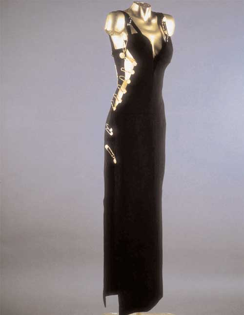 Liz Hurley Versace 1992. Evening gown worn by Elizabeth Hurley at the premiere of Four Weddings and a Funeral.
